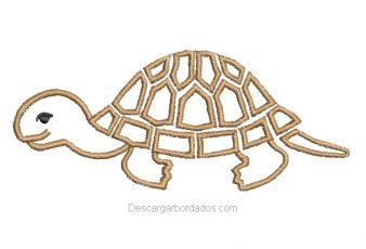 Diseño de Tortuga para Bordar en Maquina