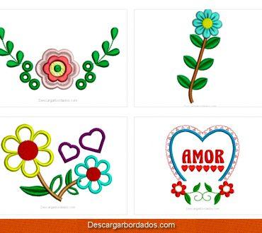Descargar Diseños bordados de flores