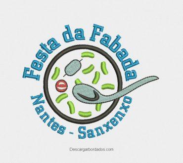 Diseño bordado de Logo festa