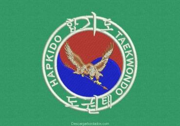 Diseño bordado de logo hapkido