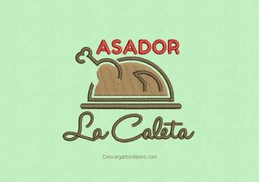 Diseño de bordado logo La Caleta