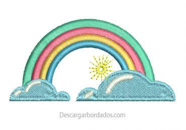 Diseños Bordado de Arcoíris para Bordar