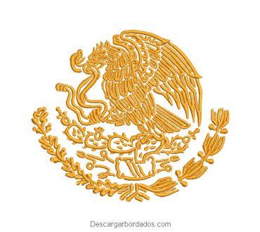 Águila Escudo de México para Bordar en Máquina