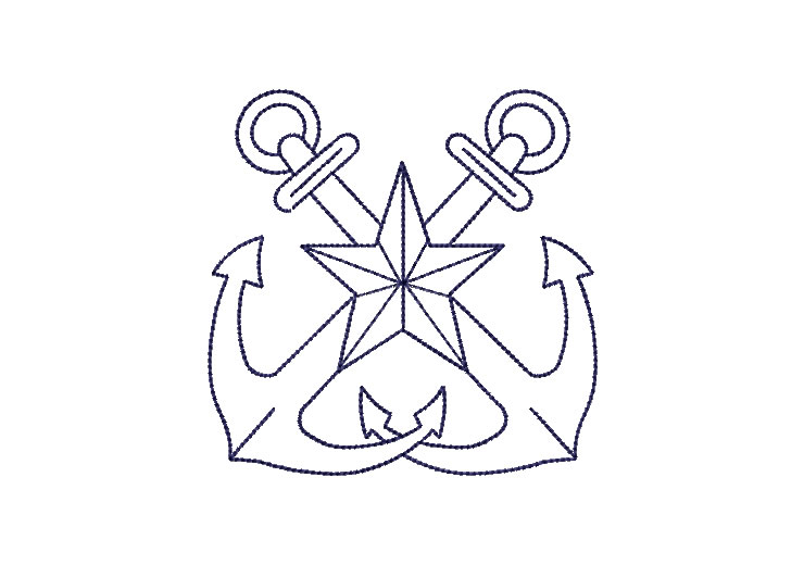 Anclas Cruzadas Diseños de Bordado