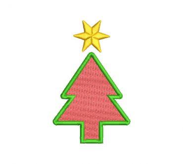 Árbol de Navidad con Estrella Diseños de Bordado