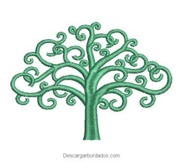 Árbol de la vida diseño de bordado