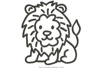 Diseño Bordado de León para Bordar Gratis