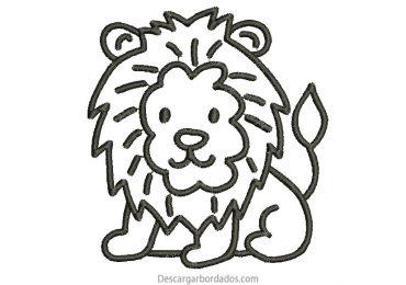 Bonito Diseño Bordado de León