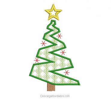 Bonito diseño bordado árbol de navidad