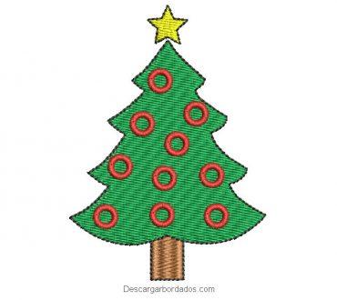Bordado árbol de navidad para bordar