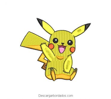 Bordado Pikachu de Pokemon