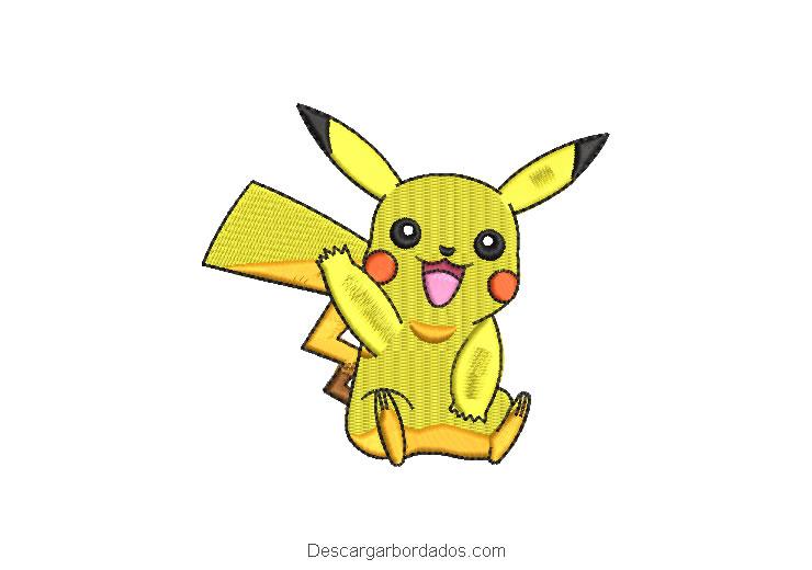 Bordado Pikachu de Pokemon