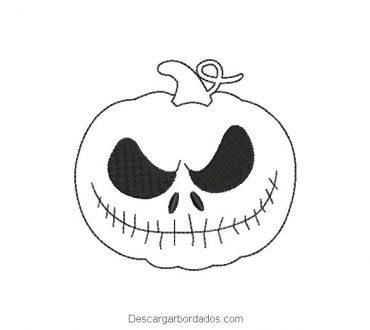 Bordado cara de calabazas para halloween