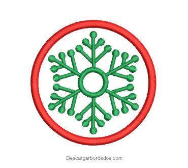 Bordado corona de navidad con decoración