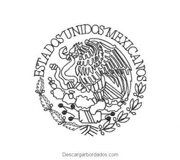 Bordado de Águila de Escudo Nacional de México Delineado