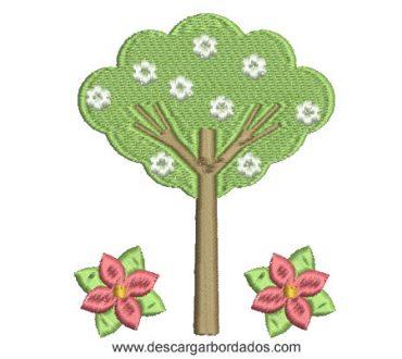 Diseños Bordado de Árbol decorado