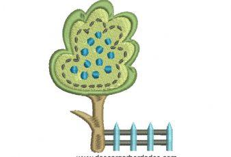 Diseño Bordado de Arbol infantil