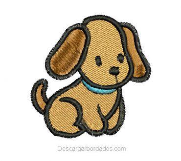 Descargar Bordado de Cachorro Infantil