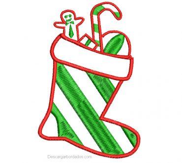 Descargar bordado de calcetin de navidad