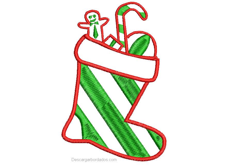 Bordado de Calcetin de Navidad