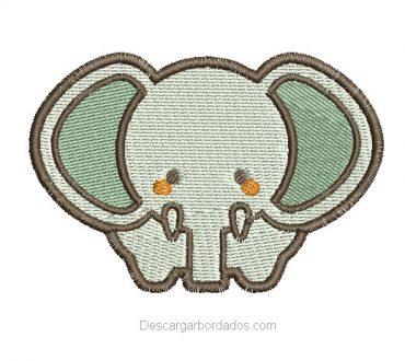 Bordado de Elefante Infantil