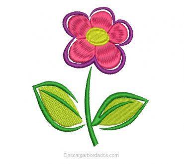 Bordado de Flores Infantiles