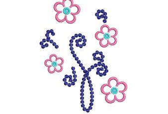 Descargar Bordado de Flores con decoración