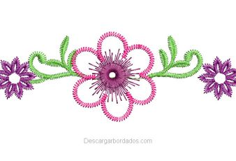 Descargar Bordado Flores con decoración