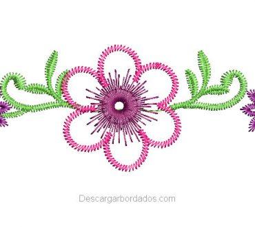 Bordado de Flores para bebes