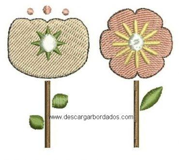 Lindo Bordado de Flores para descargar