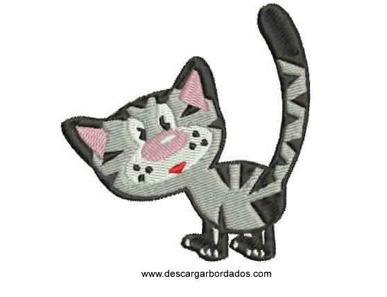 Bordado de Gato listo para Bordar