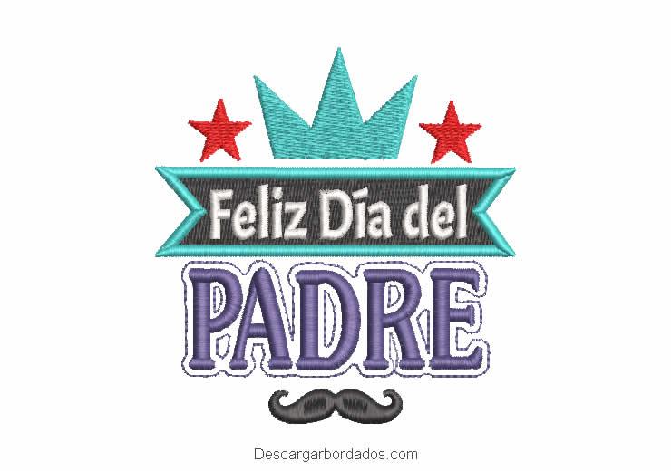 Bordado de Letra Feliz día del padre