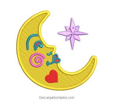 Bordado de Luna con Estrella