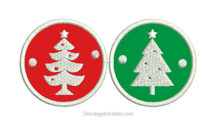 Bordado de Sticker de Navidad