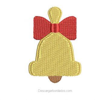 Diseños de campana de Navidad para bordar