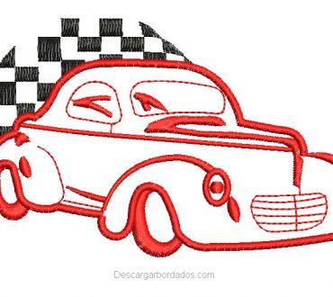 Bordado de carrito de carreras con aplicación