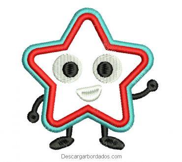 Bordado estrella de personaje para máquina