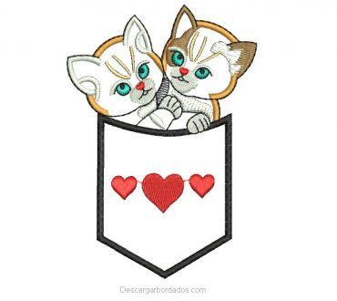 Descargar Bordado de Gatitos con Aplicación