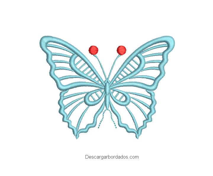 Bordado de mariposa con decoración