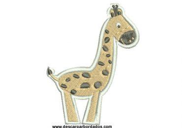 Bordado jirafa infantil