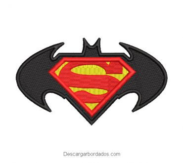Bordado logo de batman y superman