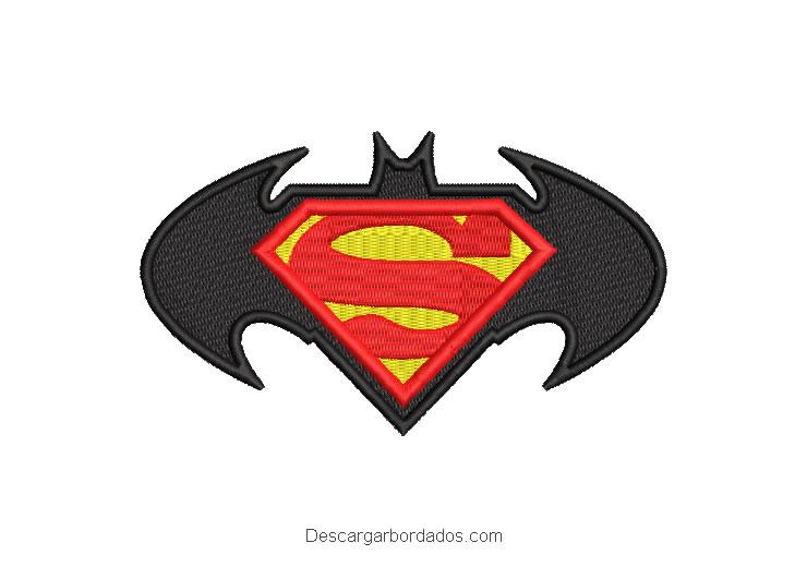 Bordado logo de batman y superman