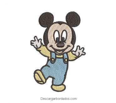 Diseño Bordado mickey mouse bebe