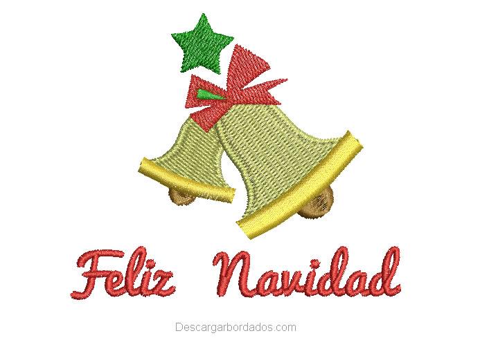 Campana con Letras de Feliz Navidad