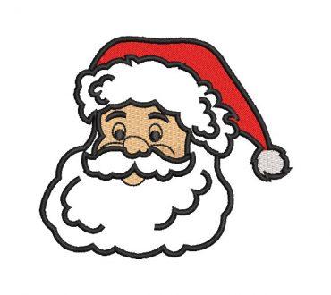 Cara de Papa Noel Diseños de Bordado