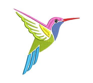 Colibrí Picaflor de colores Diseños de Bordado