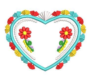 Corazón de Flores Diseños de Bordado