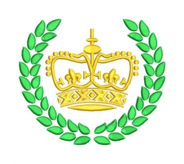 Corona con Escudo Diseños de Bordado
