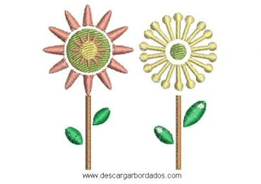 Descargar diseño bordado de flores