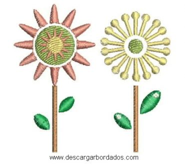 Matrices de Bordado Flores para Bordar en Maquina